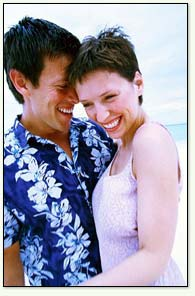 Image: Young couple laughing