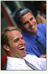Image: Men laughing